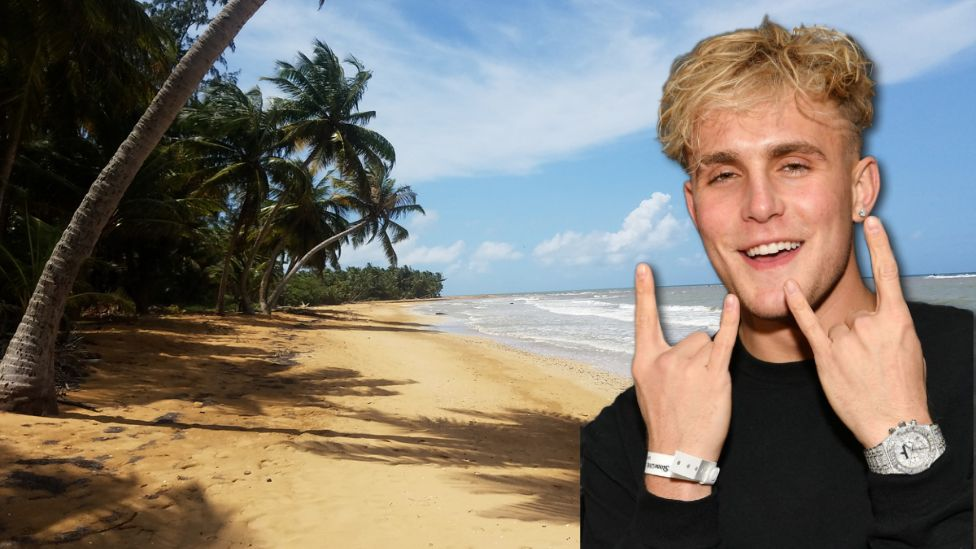 The Puerto Rican authorities are investigating which beach Jake Paul was on and if any laws were broken (file photos)