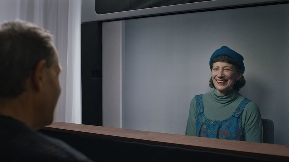 Google's Project Starline uses 3D imaging to make someone on a video call appear as if they're really there.