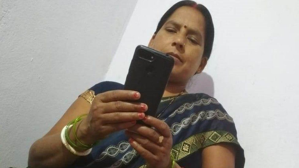 Nirmala Kumari used a mobile phone for the first time in 2018 and is now helping other women