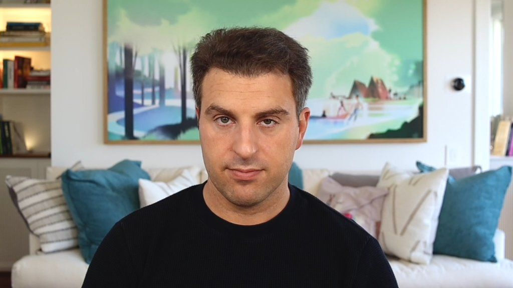 BBC News spoke to Airbnb co-founder and CEO Brian Chesky from his home in California