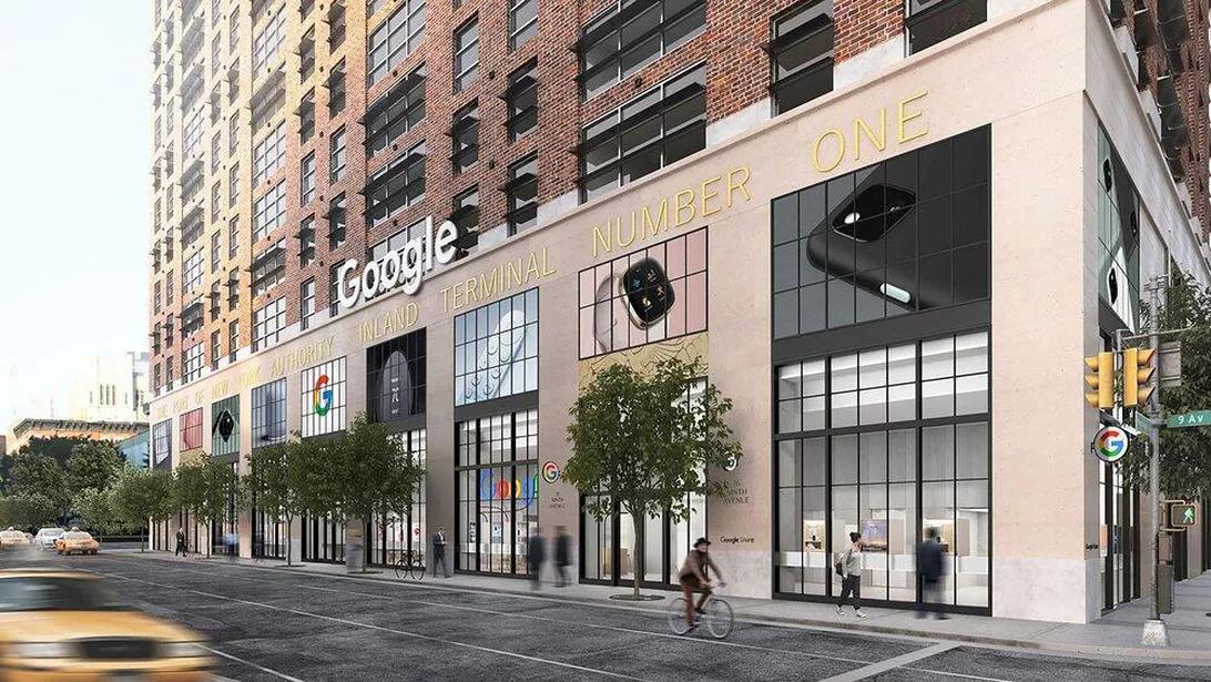 Google представил рендер своего будущего магазина в Нью-Йорке.