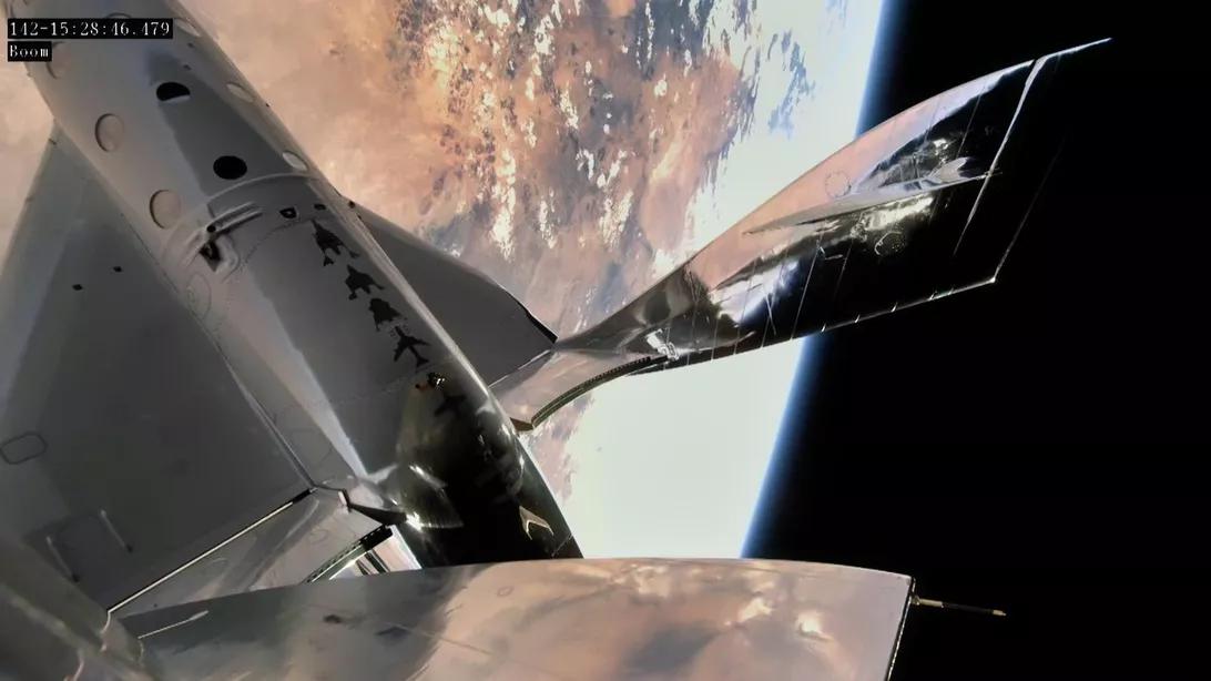 Virgin Galactic над Нью-Мексико.