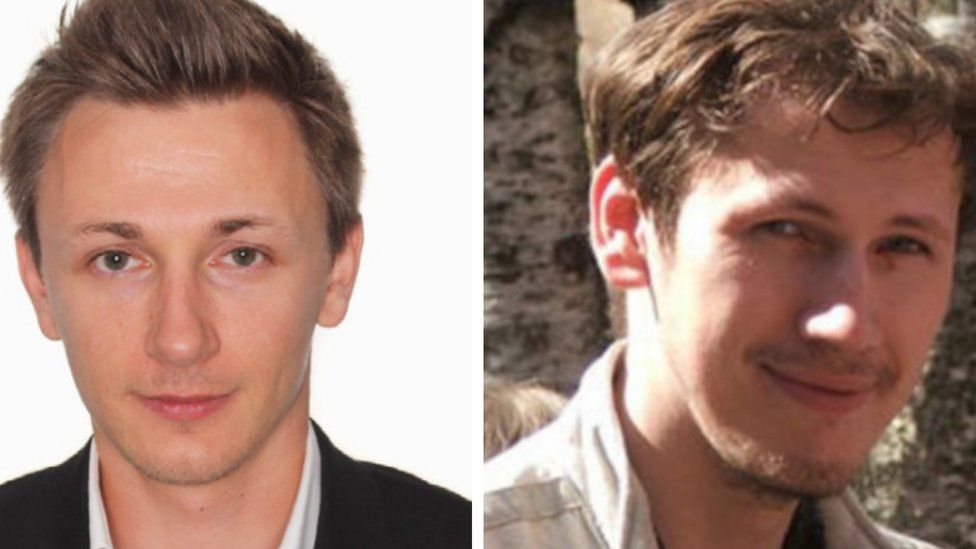 Russian residents Maksim Yakubets (L) and Igor Turashev are accused of running Evil Corp ransomware group