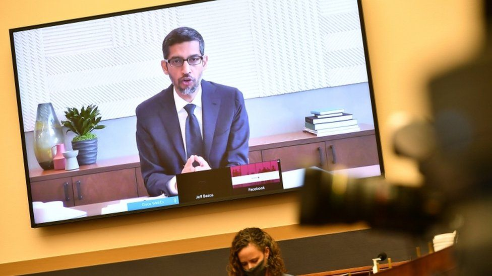 Google's Sundar Pichai was quizzed on anti-trust issues by Congress in July 2020