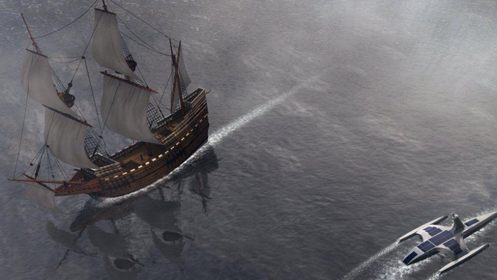"""Оригинальный """"Mayflower"""" был больше и внушительнее, но медленнее и полагался на людей"""