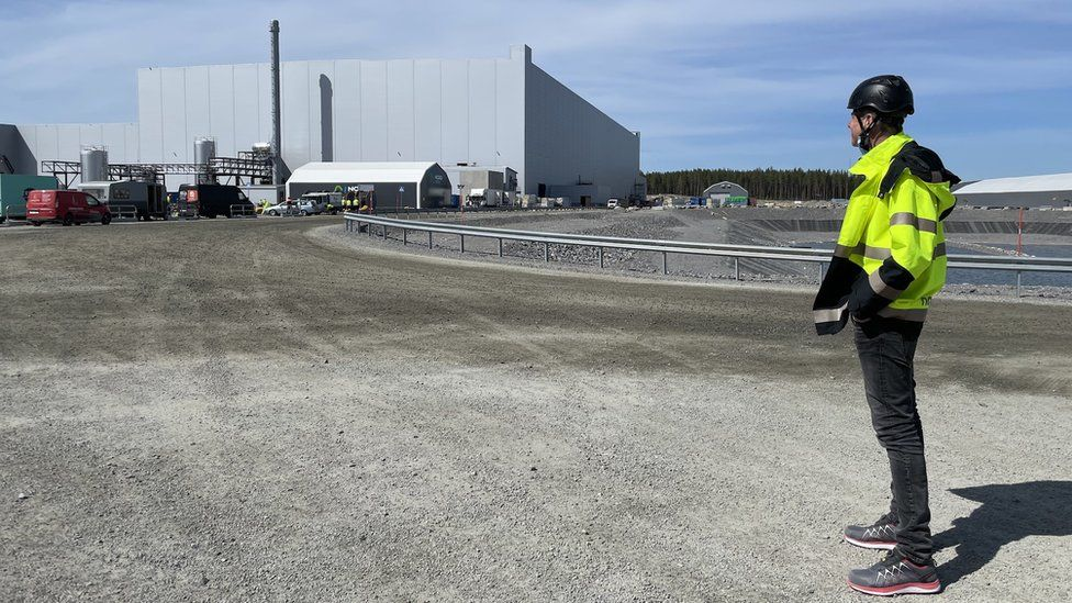 Northvolt's gigafactory is 125 miles south of the Arctic Circle