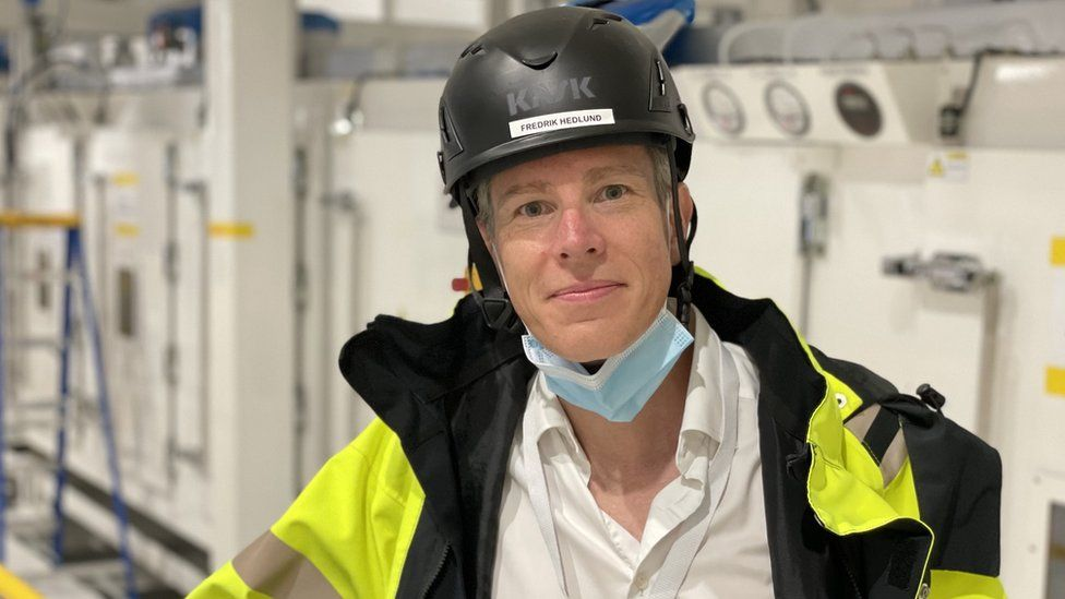 Northvolt plant manager Fredrik Hedlund