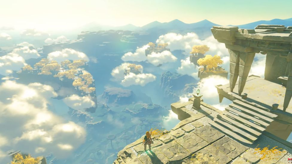 Skydiving and high peaks appear to be a major part of the new Zelda's gameplay