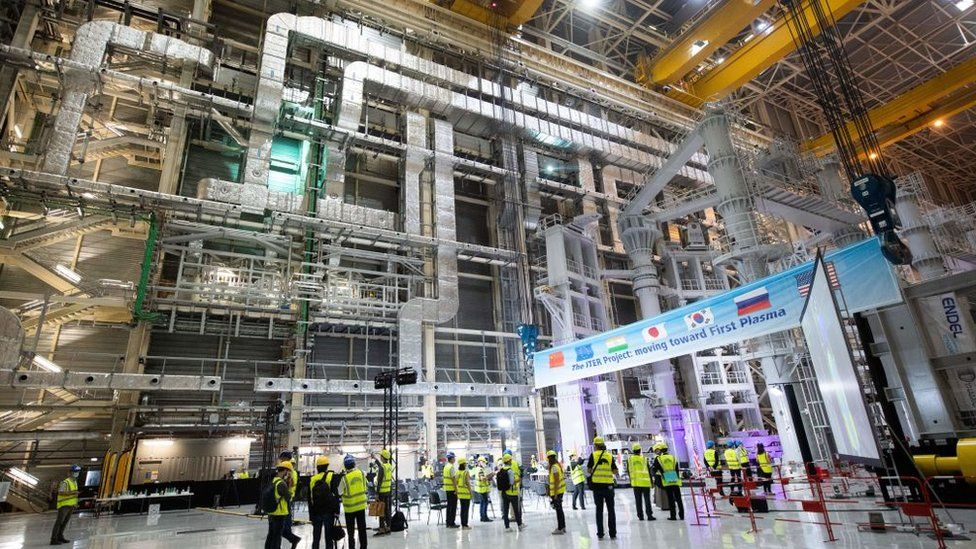 The giant assembly hall of the Iter project in the south of France