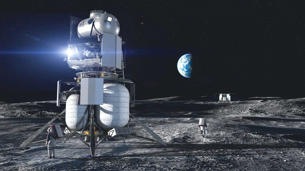 """The design developed by Blue Origin in partnership with aerospace giants was called """"Blue Moon"""""""