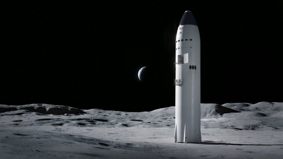 SpaceX's winning bid will use an adapted version of its Starship vehicle to land astronauts on the Moon