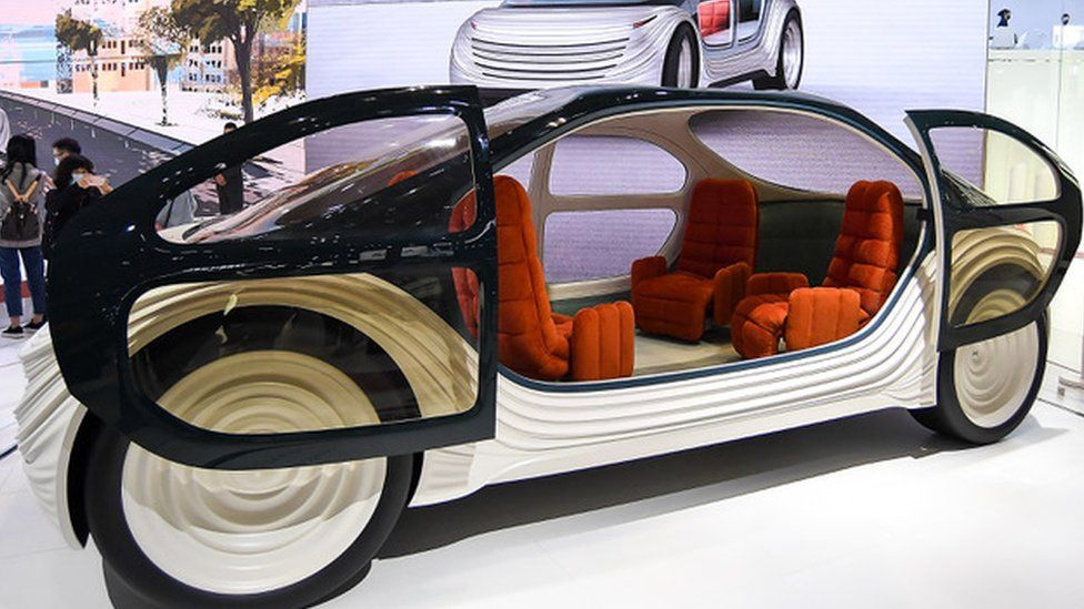 The interior of the Airo is intended to be more like a room than a car