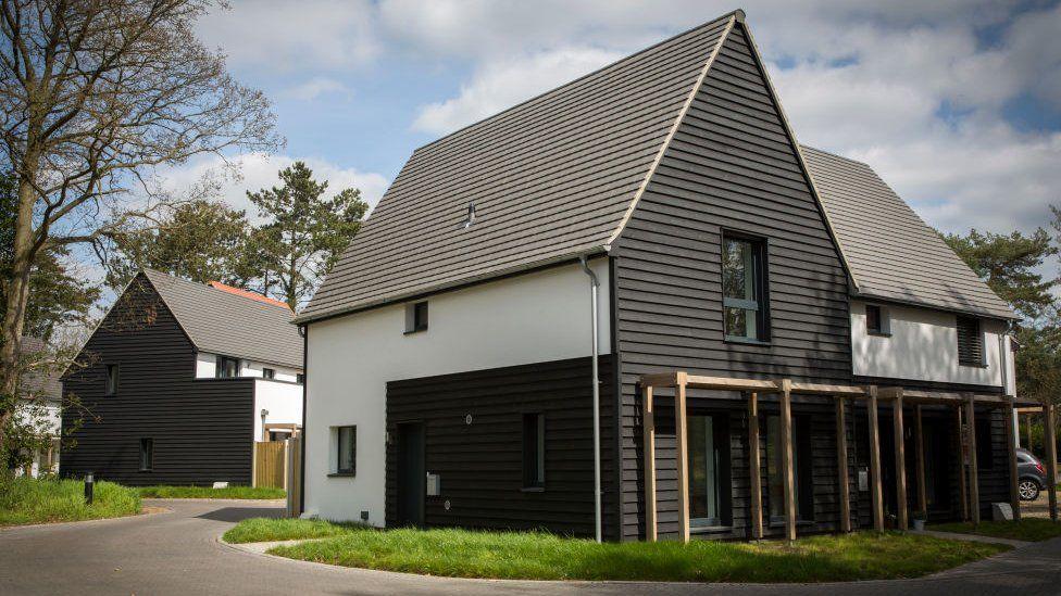 A development of new homes incorporating Passivhaus principles