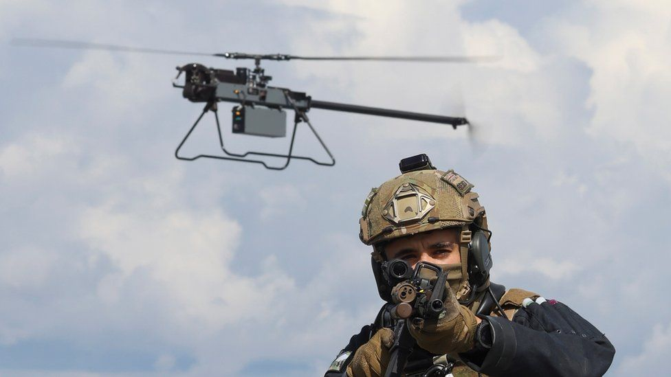 The Ghost drone is designed to scout ahead as quietly as possible