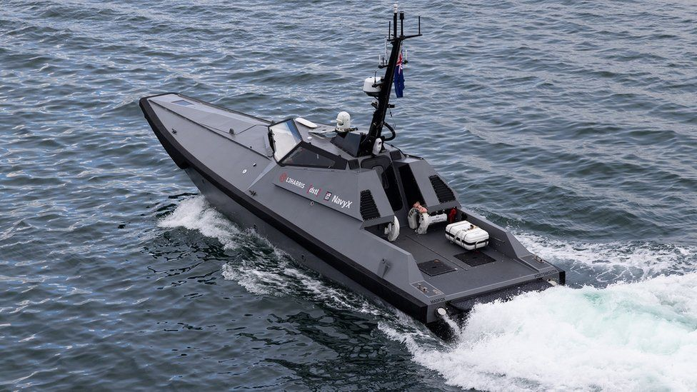 The uncrewed Madfox was acquired by the Royal Navy in March
