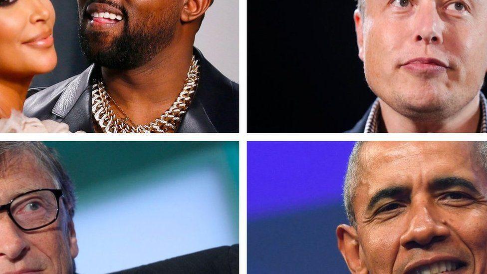 """Twitter Ким Кардашьян и Канье Уэст, Элон Маск, Билл Гейтс и Барак Обама были """"взломаны"""""""