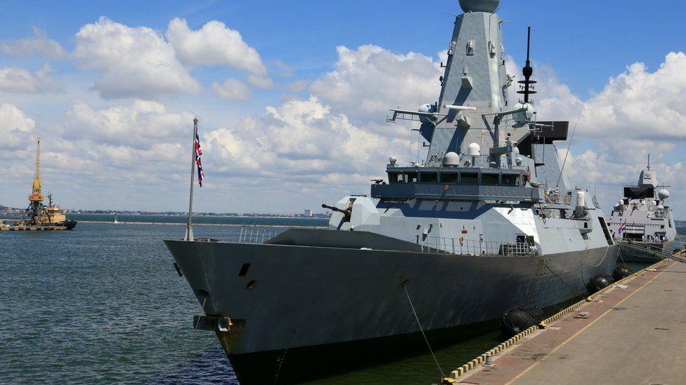 HMS Defender in Odessa