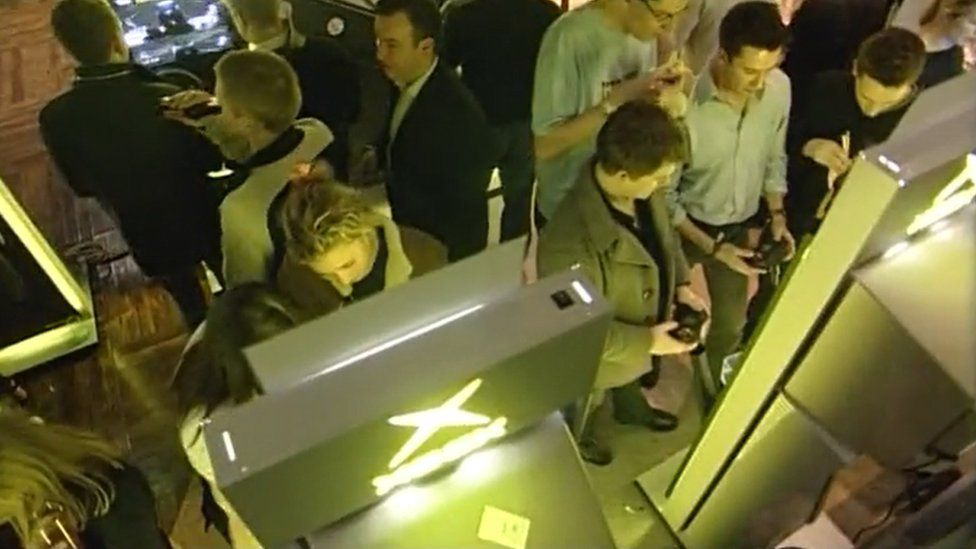 BBC News reported on the 2001 launch of Microsoft's first console, Xbox, which came with a built-in hard drive, an operating system geared towards online play, and very large controllers