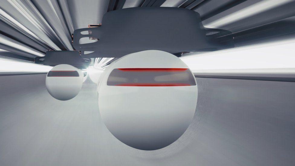Как могут выглядеть капсулы, согласно Virgin Hyperloop