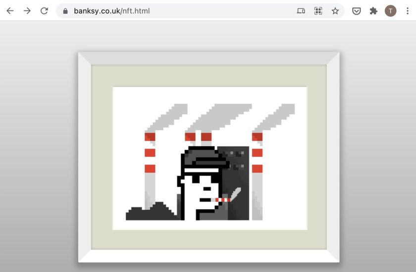 The fake Banksy NFT was advertised on the artist's official website