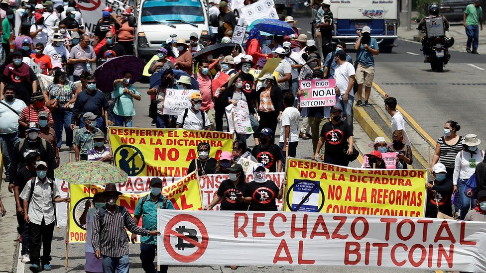 Protestors fear Bitcoin's adoption may cause instability for one of Latin America's poorest countries