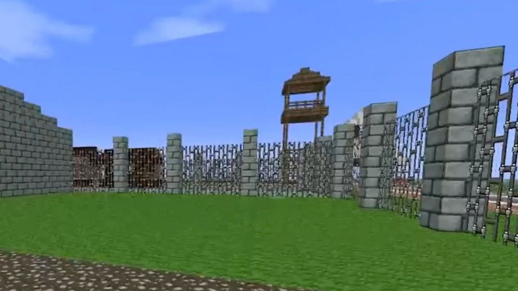 A user-built Nazi concentration camp in Minecraft