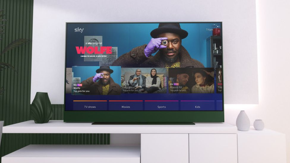 Image caption, Sky Glass is being billed as a no-fuss smart TV